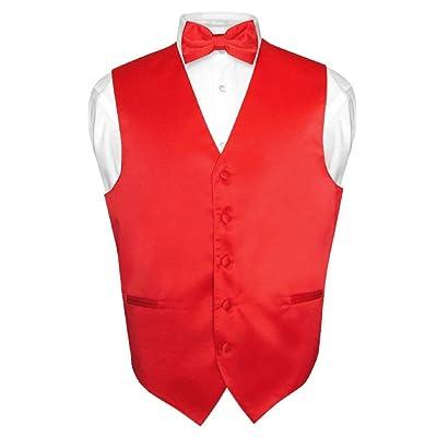 Men/'s Plaid Design Dress Vest BOWTie Navy BROWN White BOW Tie Hanky Set Suit Tux