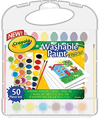 Crayola Washable Paint n Paper Set