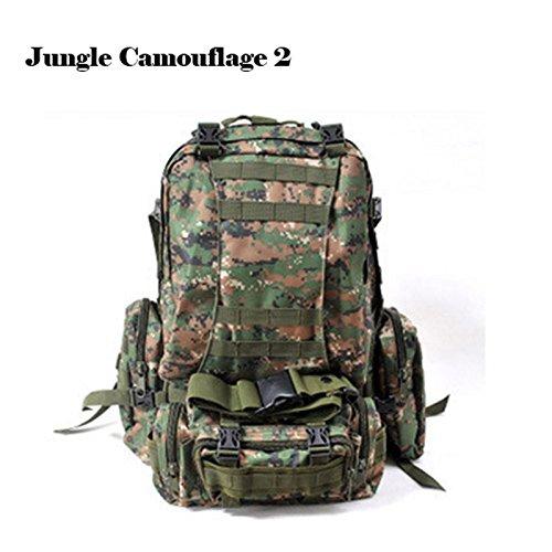 BininboxアウトドアMOLLE 3 DAY ASSAULT TACTICAL MILITARYバックパックリュックサックキャンプハイキングバッグ  Jungle camouflage 2 B00WM7BGW0