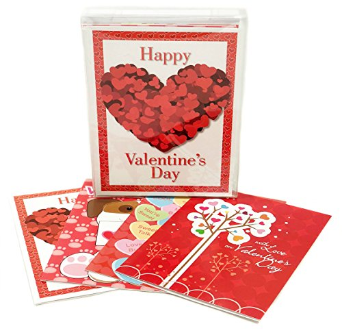 16 Valentine's Day Boxed Cards - Great For Kids - Assorted Box Set