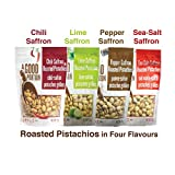 [A Good Portion][Roasted Pistachios][4 Flavours of Sea-Salt, Lime, Chili and Pepper][4 bags of 250g]