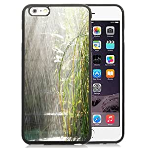 Beautiful Custom Designed Cover Case For iPhone 6 Plus 5.5 Inch With Bamboos Under Heavy Rain Phone Case Cover