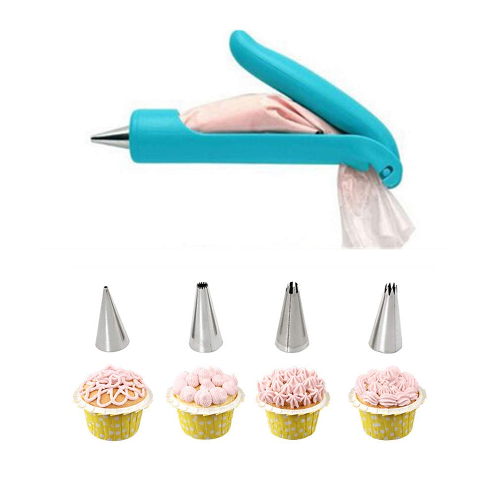 ANGELA 5-Piece Set Cake Decorating Pen, DIY Cake Deco Tools Kit, Beautifully Decorated, for Kitchen Snack Baking, Suitable for Western Restaurant, Store by ANGELA