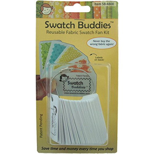 Price comparison product image Swatch Buddies SB-4800 Fabric Fan, White, 48-Pack