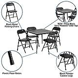 Flash Furniture 5 Piece Black Folding Card Table