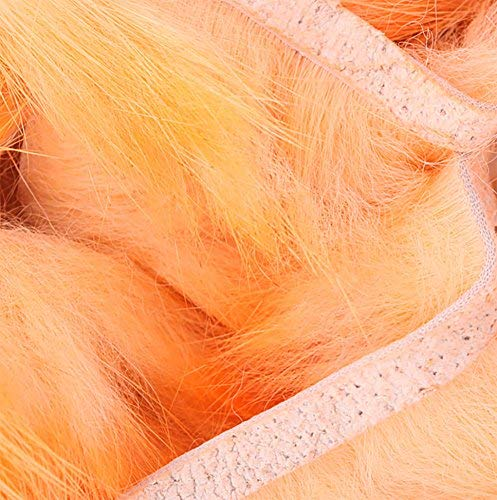(Hareline Dubbing Crosscut Rabbit Flesh Strips (Two Tone Color) (Salmon Pink Orange))