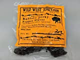 BEST Exotic Pack – 3 Types of Wild Game Jerky – Elk Buffalo Venison Jerky – 100% Natural Grass Fed Hand Stripped Thick Cut Delicious Flavor Jerky – 6 Total oz. (Wild Game Pepper, 6 oz.)