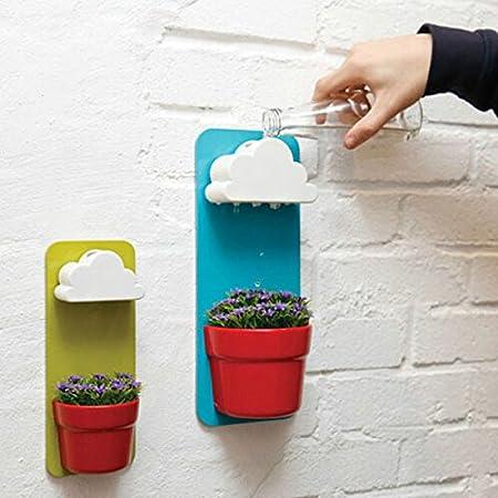 Plastic Creative Clouds Rainy Pot Wall Hung Flower Pot by Alumi Gogo