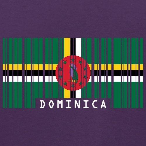 Dominica Barcode Flagge - Herren T-Shirt - Lila - S