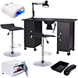 md- group Manicure Nail Table Station Rack Chairs Towel Warmer Nail Dryer Salon Equipment