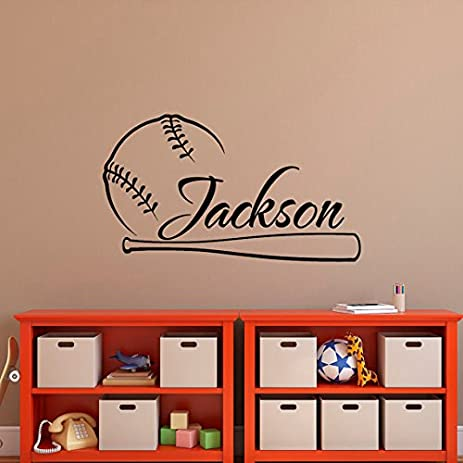 Baseball Wall Decal Name  Baseball Personalized Boy Decal  Boy Name Wall  Decals  Baseball