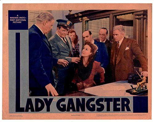 (Lady Gangster Red Tint Old Style Art 8 x 10 Inch Photo LTD7)