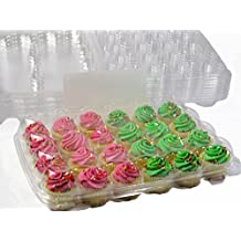 Katgely Mini Cupcake Boxes, Mini Cupcake Containers, 24 Mini Cupcakes, Set of 10 by Katgely Inc