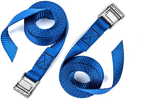 2 PCS of Premium Lashing Straps,VVHOOY 12 Ft Long - Rated 250 lbs - for Roof Racks Moving Canoes and Tie Down Strap,Car Luggage Cargo Lashing Strap for Kayaks Carriers (Through Roof Rack)