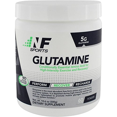 NF Sports Glutamine –Amino Acid for High Intensity Exercise & Recovery an All-Natural Research-Proven Form of Glutamine Most Abundant Free Form Amino Acid -100% Satisfaction Guaranteed – 60 Servings For Sale