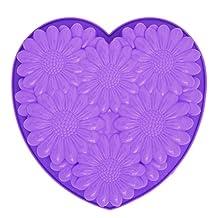 Pavoni FRT163 Platinum Silicone Bouquet Heart Cake Mould, Purple