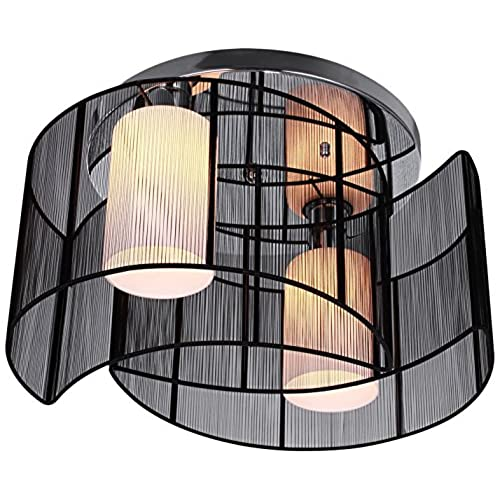 Hallway light fixtures amazon lightinthebox black semi flush mount with 2 lights mini style chandeliers modern ceiling light fixture for hallway dining room living room aloadofball Choice Image