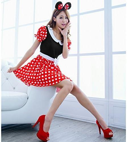 cvictims Sexy Mujer Disfraz De Minnie Mouse vestido de cosplay con ...