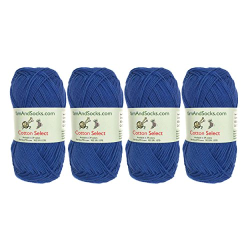 Cotton Select Sport Weight Yarn - 100% Fine Cotton - 4 Skeins - Col 208 - Dynasty ()