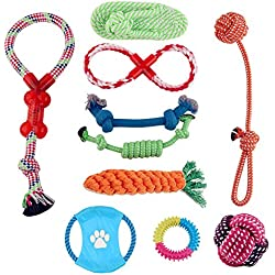 10 Pack Chewing Rope Toys for Small to Medium Dogs