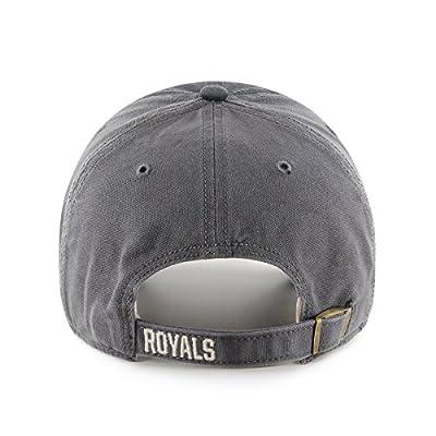 MLB Kansas City Royals Cronin Clean Up Adjustable Hat, One Size, Charcoal
