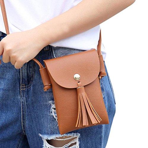 Bovake - Bolso mochila  de Piel para mujer marrón