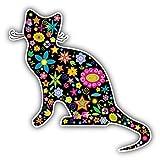 """Ornate Cat Car Window Bumper Decal Vinyl Sticker 5"""" X 5"""""""