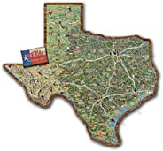 Texas Map Wood Cut-out 25&