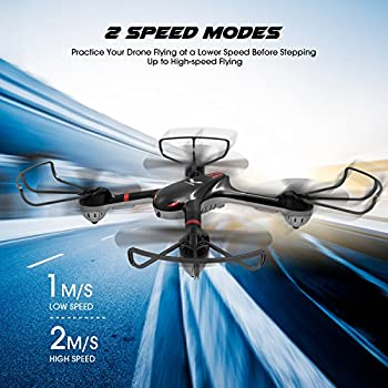 DROCON Training Drone for Beginners with Real-time Video, Wi-Fi FPV Quadcopter Equipped with Headless Mode and One-Key Return, Easy to Fly
