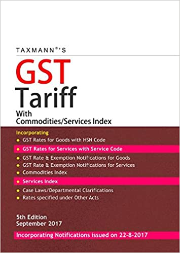 GST Tariff with Commodities /Services Index
