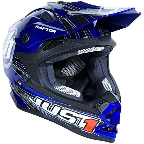 Just 1 J32 Raptor Motocross Helmet (Blue, Youth Medium) from Just 1