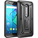 Moto X Pure Edition Case, SUPCASE [Heavy Duty] Belt Clip Holster Case for Motorola Moto X Style /Pure Edition 2015 [Unicorn Beetle PRO] Rugged Protective Cover /Builtin Screen Protector (Black/Black)