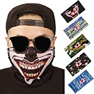 softan Bandana Face Mouth Covering Breathable Headbands Scarf Seamless Balaclavas for Hot Summer Outdoors,10PC