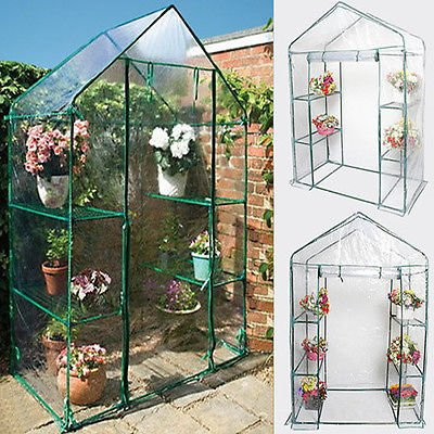 Affordable Portable Outdoor 4 Shelves 3 Tier Walk In Greenhouse Perfect for Plants Protection and Growth (Kalashnikova Patch)