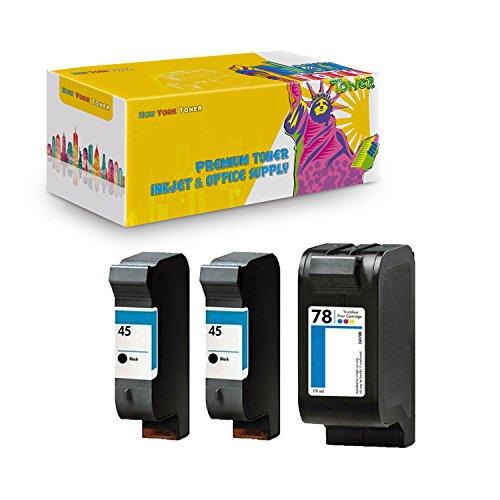 New York TonerTM New Compatible 3 Pack HP 51645 (HP 45) HP C6578DN (HP 78) High Yield Inkjet for HP : DeskJet : 710C | 1000C | 712C | 1100C ()