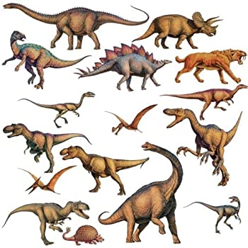 New DINOSAURS 16 BiG T REX Wall STICKERS Boys Room Decor Decals Bedroom  Decoration