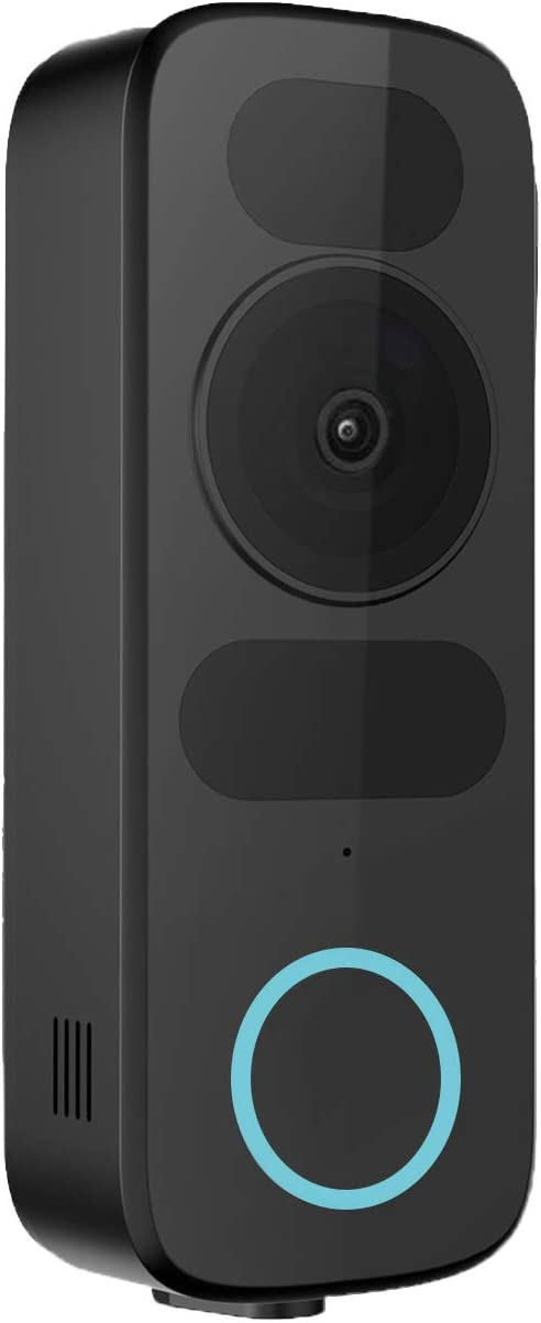 WiFi Video Doorbell Camera, Wireless Smart Doorbell with Power Kit,1080P HD, 2-Way Audio, Motion Detection, Night Vision,No Monthly Fees,Works with Ehco Show and Google Nest Hub