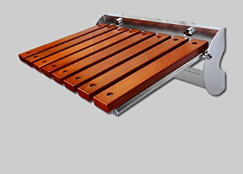 Folding Wall Bench Duschsitz Wand Stuhl Bad Hocker Holz Bad Stuhl ...
