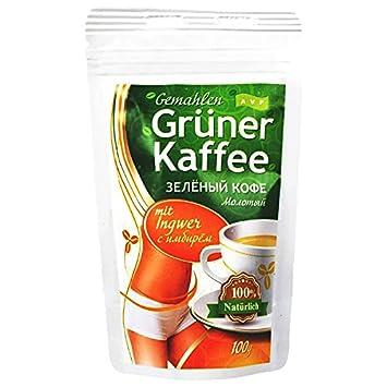 Grüner Kaffee Mit Ingwer grüner kaffee gemahlen mit ingwer 100g green coffee abnehmen diät