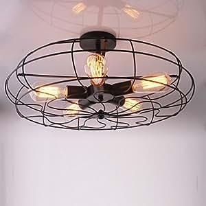 21 vintage loft fan shape restaurant ceiling lights creative black painted industrial dining. Black Bedroom Furniture Sets. Home Design Ideas