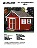 12' x 10'?Gable Storage Shed Project Plans -Design #21210 by Plans Design