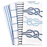 #6: Pantry Nautical Knots Kitchen Dish Towel Set of 4, 100-Percent Cotton, 18 x 28-inch
