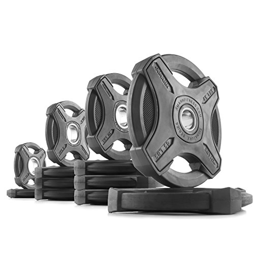 XMark TEXAS STAR or SIGNATURE Series Olympic Plate Weights, Olympic Plate Units, 95 lb. to 155 lb. Weight Units, Olympic Grip Plate, 2-Inch Weight Plates, Rubber Grip Olympic Plate Weights – DiZiSports Store