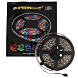 SUPERNIGHT (TM) 16.4ft(5M) 5050 300LEDs/pc RGB multi-color Waterproof(IP-65) SMD Flexible Strip light