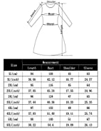 MissQee Women Plus Size Flare Casual Loose Bell Sleeve Shirt Dress