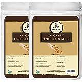 Naturevibe Botanicals Organic Whole Fenugreek Seeds - 2 lb (32 Ounces) - Trigonella foenum-graecum | Raw, Gluten-Free & Non-GMO | Adds Flavor and Spice to Food.
