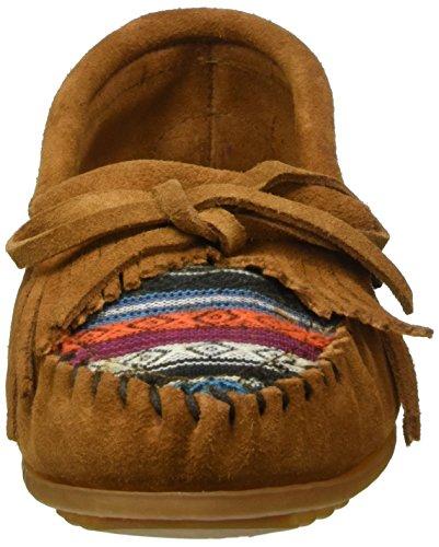 Minnetonka Women's, Arizona Kilty Slip-on Moccasin Brown Suede 9 M by Minnetonka (Image #4)