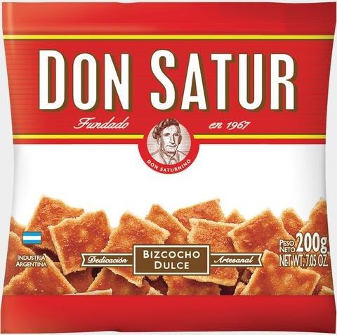 Don Satur Bizcochos Dulce 200gr 2 Pack
