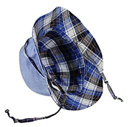 Toddler Kids Fashion Labelling Cotton Wide Brim Reversible Anti UV UPF50+ Sun Protective Bucket Hat Folding Packable Floppy Beach Cap Bonie Sun Hat Visor for Girls Boys Age 2-8 Yrs, Jeans Blue