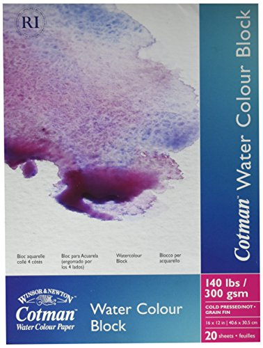 Winsor & Newton Cotman Water Colour Cold Press Paper Blocks, 12 by 16-Inch